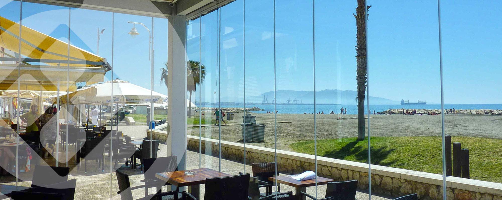 Cortinas de Cristal para residencias costa del sol